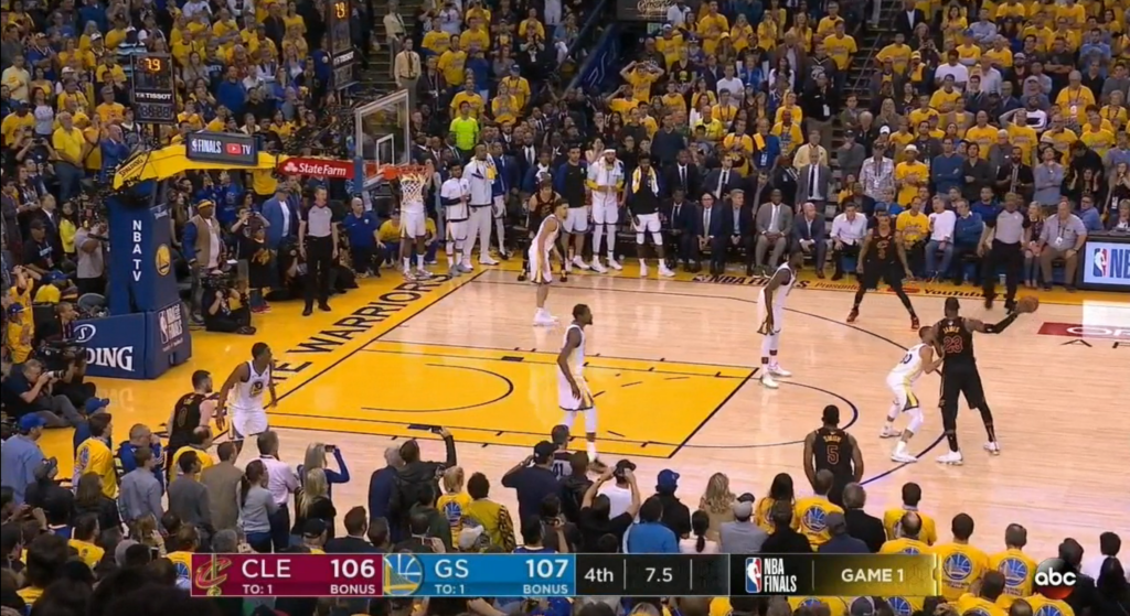 NBA Finals Game 1 Final Seconds LeBron James