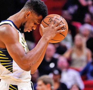 Thaddues Young of the Indiana Pacers